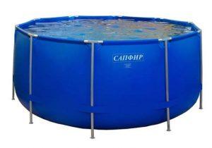 Каркасный бассейн для дачи Сапфир (аналог Bestway) 4,50м х 1,20м